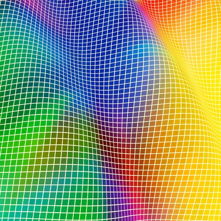 Background in the form of a wave from multi-coloured squares; EPS8