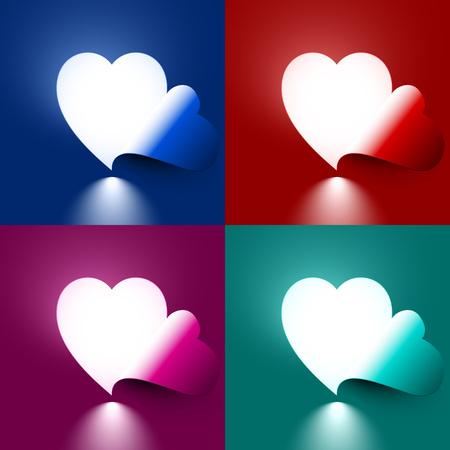 Light through the cut-out shape of heart