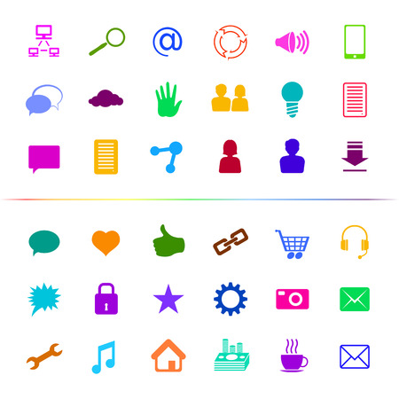 Set of icons and signs on a subject Social Media; Eps8