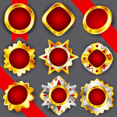 Golden   silver medals Vector