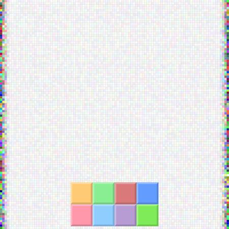 Background from light color pixels, A mosaic from square cells Ilustração