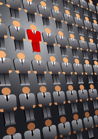 Search and selection of the leader; Stand out from the crowd; Eps8 Illustration