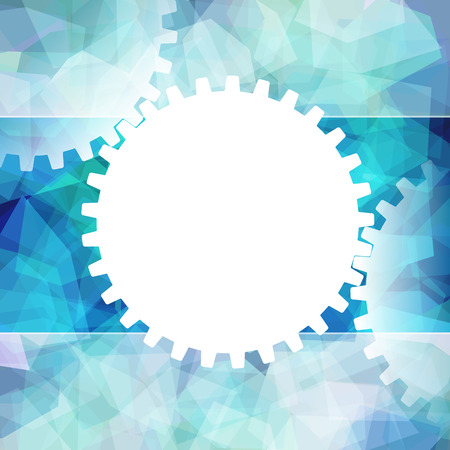 gearing: Business background from gearing of gears for teamwork.
