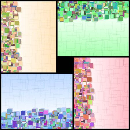 proportional: Set of vertical abstract multicolored for design and decoration of the text information The size of each is proportional to the size of Letterformat