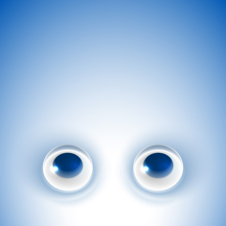looking: Eyes looking up on blue background; Eps10; No Mesh