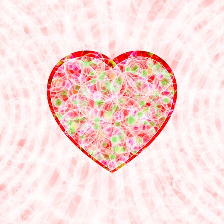 Heart shape on a tender background for decoration themes of love, wedding, Valentines Day
