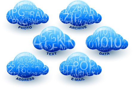 storage: Cloud computing storage for data, photo, address, text, document, archive