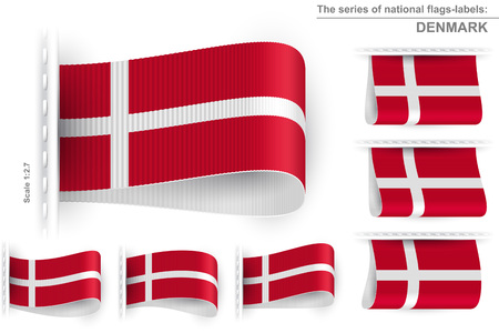 Flag of Denmark Illustration