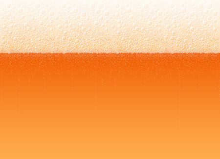 Beer with a foam and bubbles. The variety Cold Red. High detailed realistic vector illustration for a background of Oktoberfest beer festival. No Mesh