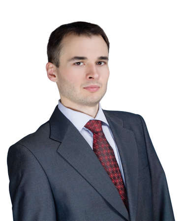 portrait of a young businessman isolated Stock Photo - 8054223