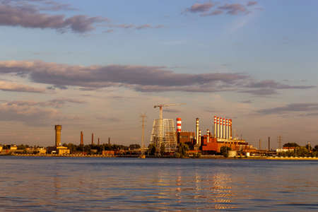 View of the Izhevsk Machinebuilding Plant from the pond photo