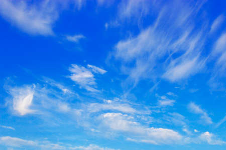 Beauty peaceful sky with soft white clouds Stock Photo