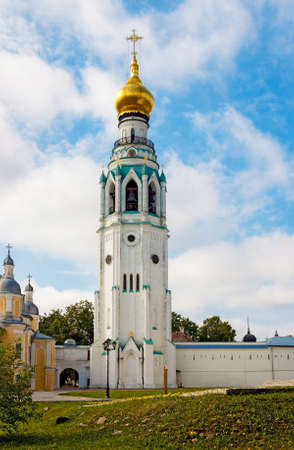 Bell Tower of St. Sophia Cathedral in the Kremlin in Vologda. Russia