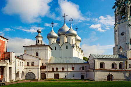 Orthodox Saint Sophia Cathedral in Vologda Kremlin. Russia