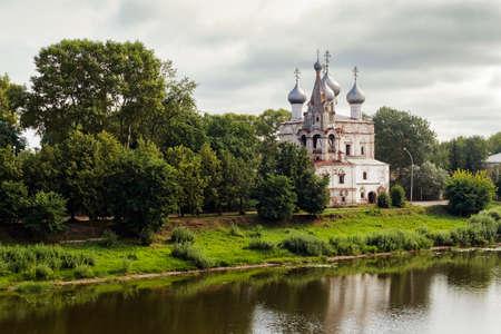 Church of Saint John Chrysostom on the river in Vologda. Russia Stock Photo