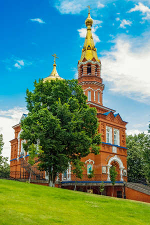 of our lady: Orthodox Church of Our Lady of Kazan in Izhevsk. Russia