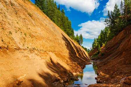 manmade: Kopan - a man-made channel in the Perm region of Russia