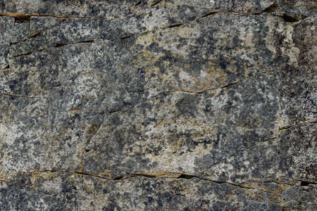 Close up of gray cracked stone. Backgrounds. Texture Lizenzfreie Bilder