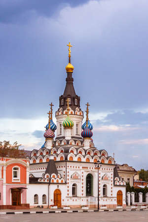 soothe: Soothe My Sorrows Church. Russian Orthodox church in Saratov Stock Photo