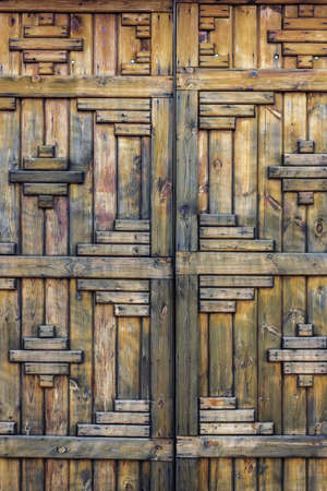 Rustic gray wooden boards wall. Pattern surface
