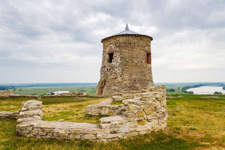 Old tower in Elabuga ancient settlement. Tatarstan. Russia