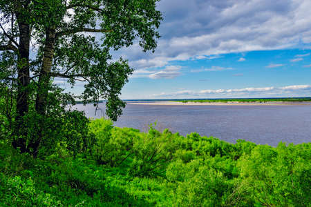 vyatka river view Stock Photo