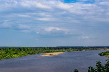 vyatka river view Stock Photo