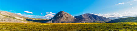 Tundra and mountains in the Subpolar Urals on a summer day Reklamní fotografie