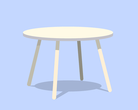 side table: A round table for modern living room reception vector illustration.