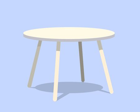 side table: Round table for modern living room reception or lounge single object realistic design vector illustration eps10
