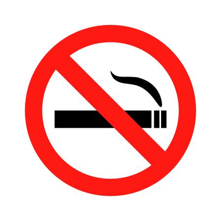 Niet roken teken pictogram illustratie op witte achtergrond Stockfoto