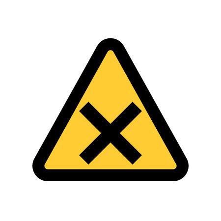 Hazard warning attention. symbol icon vector illustration