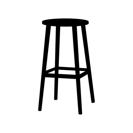 Chair symbol on white background.Bar Stool icon Element In Trendy Style. Vector flat illustration EPS Illustration