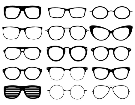 Glasses Model Icons, Man, Women Frames. Sunglasses, Eyeglasses ...