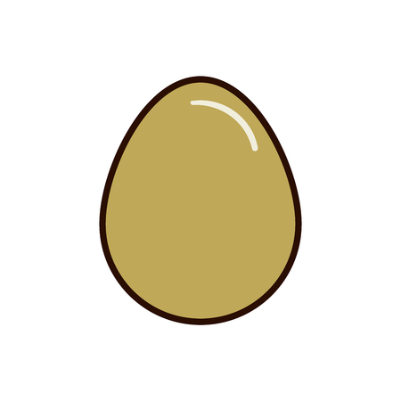 Oval egg icon flat illustration vector for web isolated on white background.