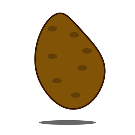 Potato icon in flat style on a white background vector illustration