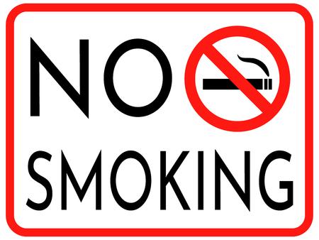No Smoking cigarettes sign. vector illustration EPS Illustration