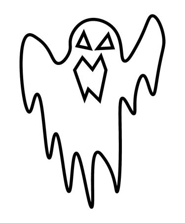 Ghost cartoon character vector illustration