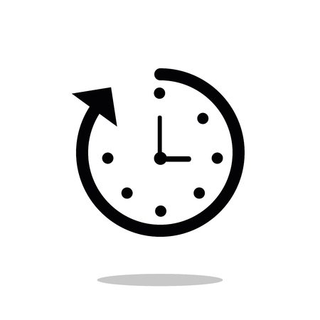 Time icon. Fast time vector icon. Deadline icon.