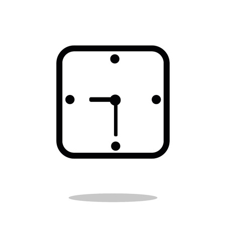 wall clock icon vector template Watch . Simple flat symbol. Illustration pictogram