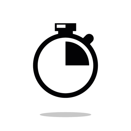 Stop watch icon vector. Modern simple flat Stopwatch sign. Modern simple flat element. Business, internet concept.