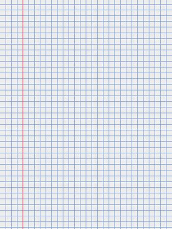 Realistic vector illustration of blank sheets of square paper from a block Notebook paper
