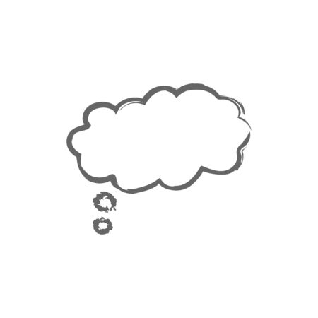 Speech think bubbles icon flat icon. Single high quality outline symbol of info for web design or mobile app. Thin line signs of chat for design logo, visit card, etc. Outline logo of message