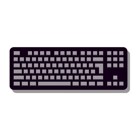 Keyboard Icon in trendy flat style isolated on grey background, for your web site design, app, logo, UI. illustration