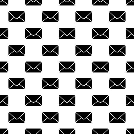 Envelope seamless pattern.  mail texture made with sealed envelope icons in flat style illustration Stock Photo