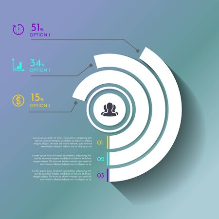 Business Infographics circle origami style Vector illustration. can be used for workflow layout, banner, diagram, number options, step up options, web design. EPS Ilustracja