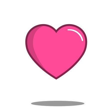 heart icon, best love illustration, love symbol flat design