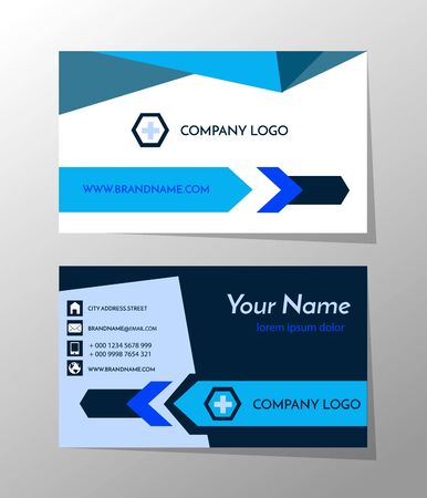 Creative and professional business card design, Clean visiting card, Contact card and name card design template Vector Illustration EPS