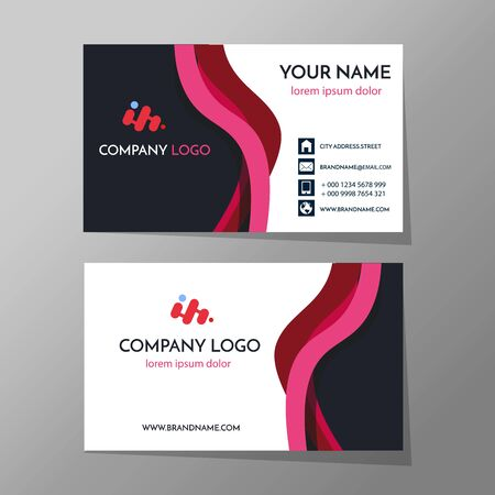 Creative and Clean Business Card Template. Flat Design Vector Illustration. Stationery Design EPS