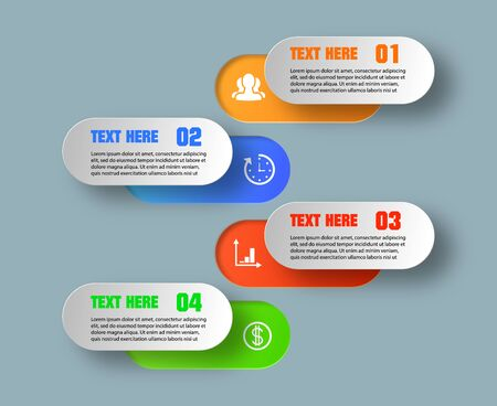Infographic design vector and marketing icons can be used for workflow layout, diagram, annual report, web design. Business concept with 4 options, steps or processes. EPS Illustration